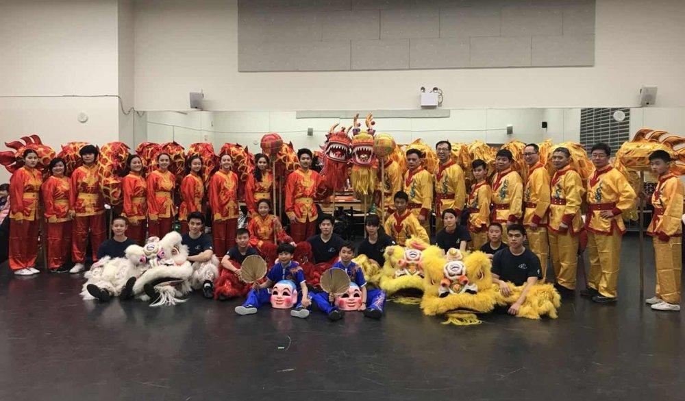 Lion and Dragon Dance team