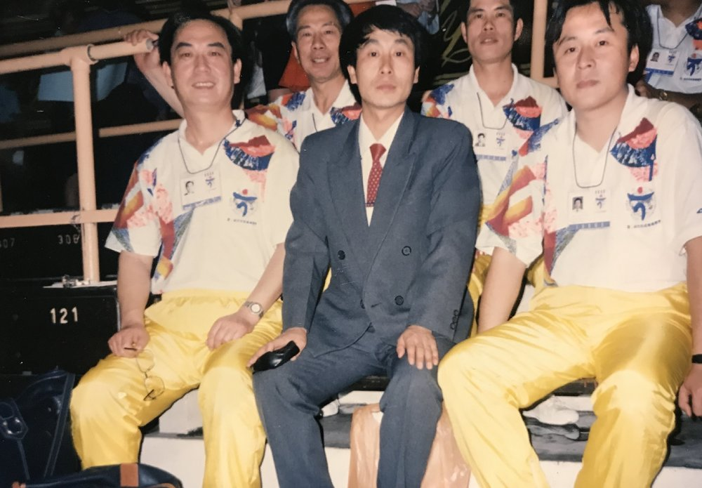 With other coaches at the 2nd WWC in Malaysia, 1993