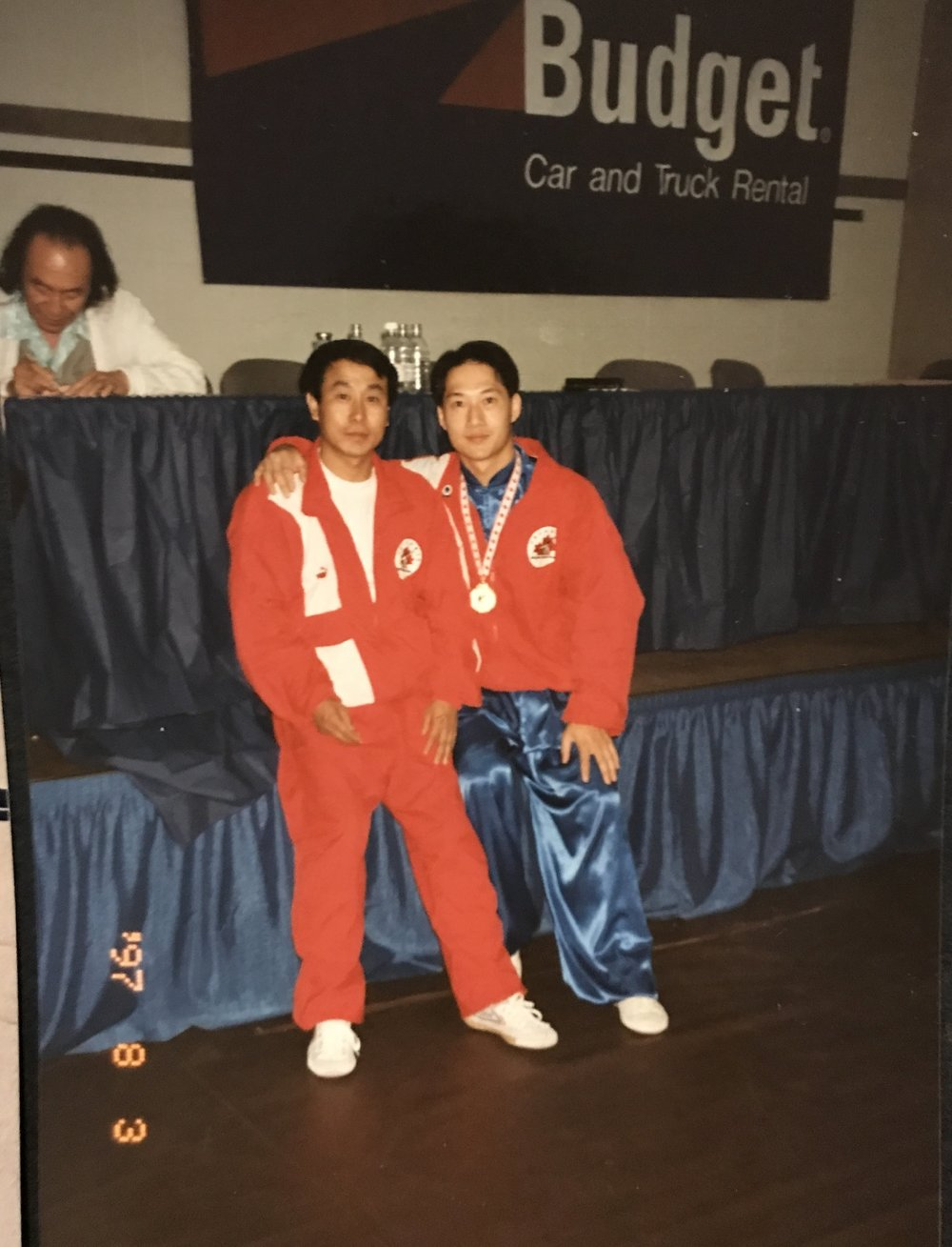 1997 Nationals with Master Pan Qingfu in the background