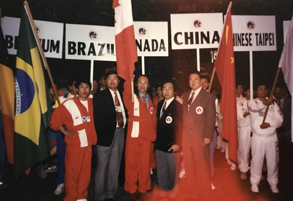 Canadian team at the 3rd WWC, 1995