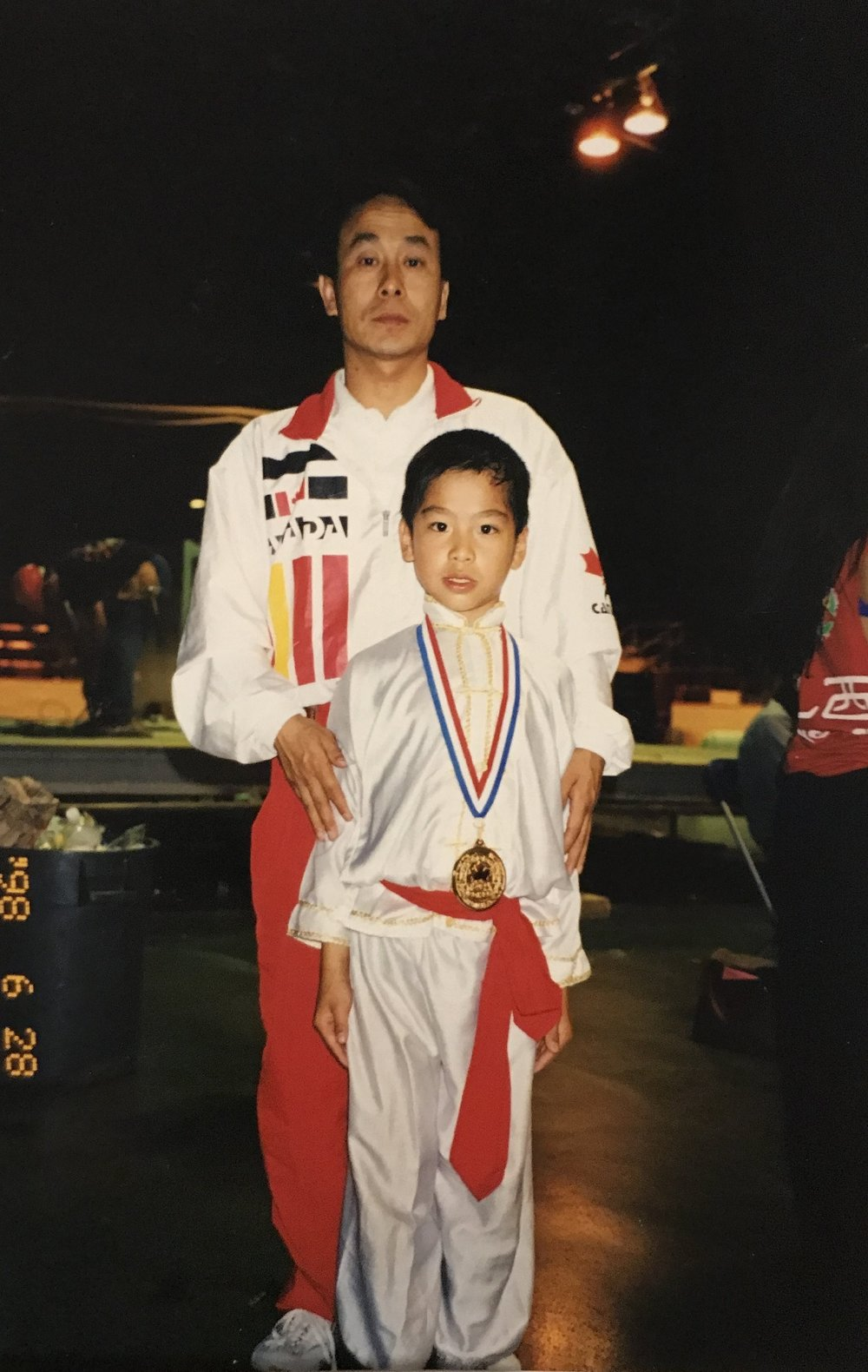 A young champion and coach, 1998