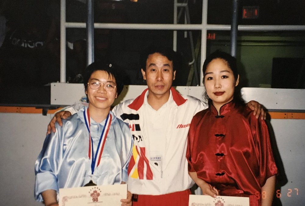Champions and their coach, 1998