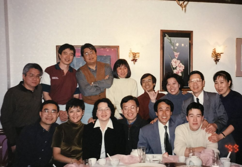 Students and teacher, 1999