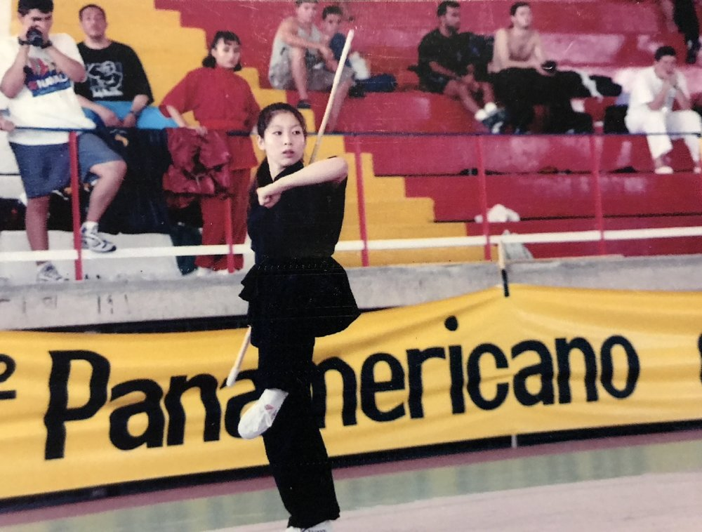 At an early Pan-American Wushu Championships