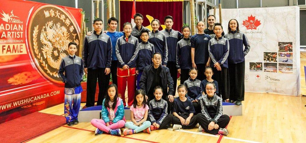 2018 Wayland Li Wushu competition team.