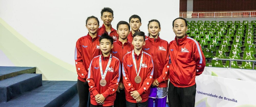 Wayland Li champions representing Canada at the 2018 World Junior Wushu Championships in Brazil