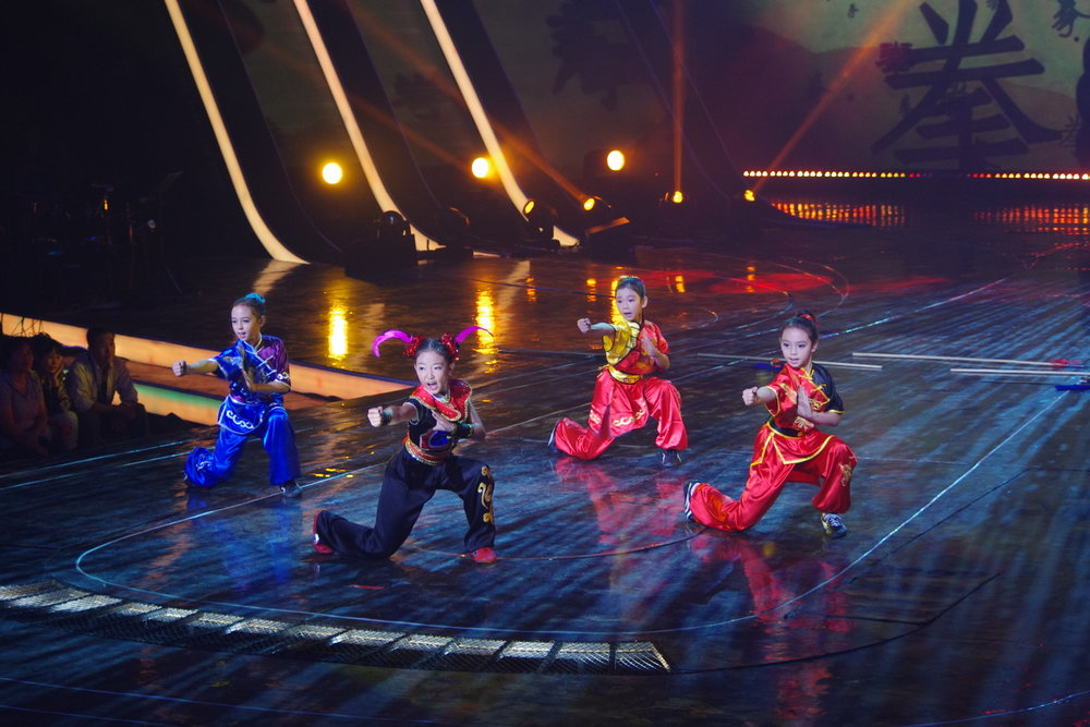 Performing on CCTV in Beijing, China.
