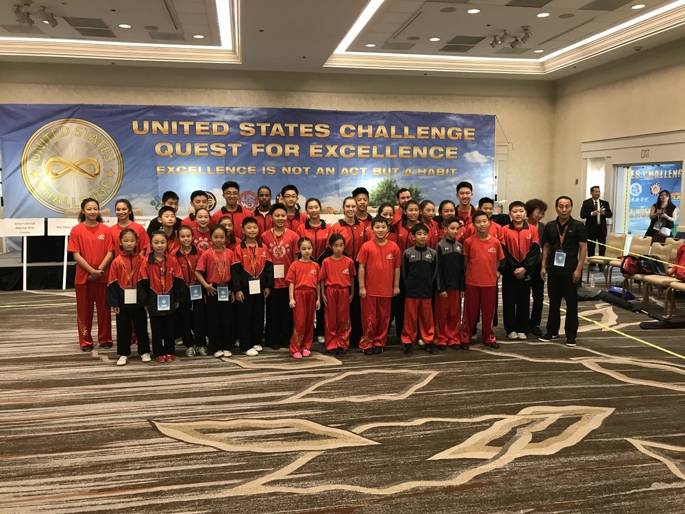 With the US Wushu Academy team
