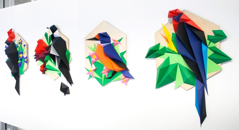 Papercraft - Hand-made sculptural papercraft artwork and installations by Anna Trundle.