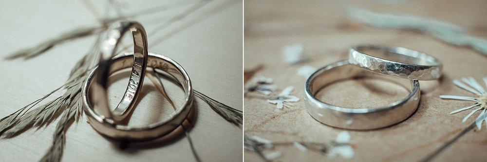 Die Ringe des Hochzeitspaares