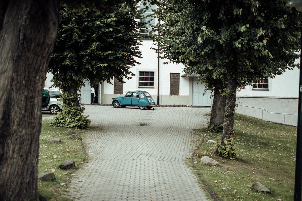 Ente als Hochzeitsauto in Burbach