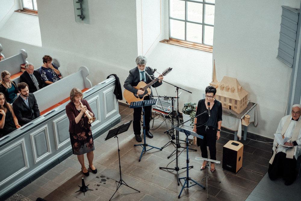Musikalische Begleitung während Gottesdienst