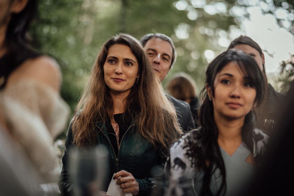 Hochzeitsgäste der traumhaften freien Trauung in der Natur nahe dem Lua Pauline bei Aachen