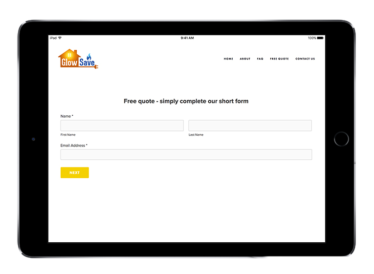 Glow Save Form Sign Up