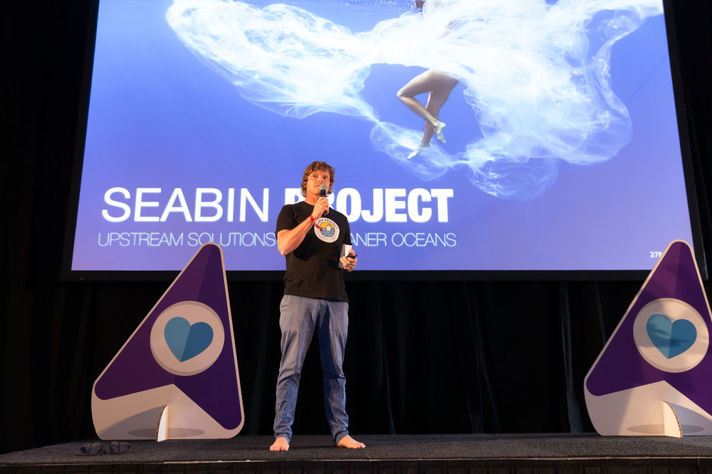 Pete sharing the Seabin Project story