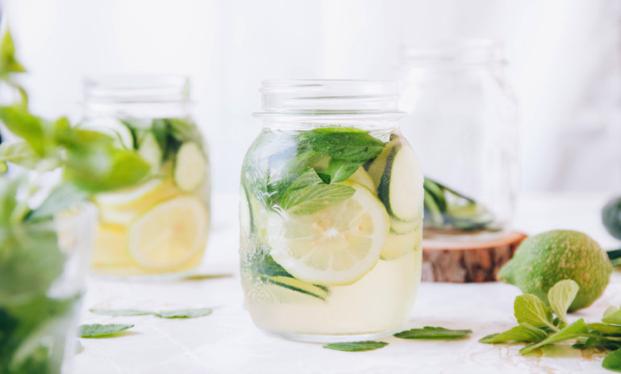 Hydrating cucumber, lemon &mint water.. AKA the healthy mojo-ito.