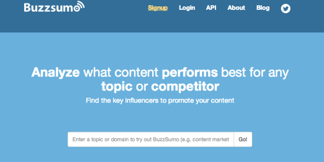 analyseren data content, Buzzsumo