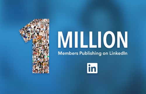 1 million members publishing on Linkedin