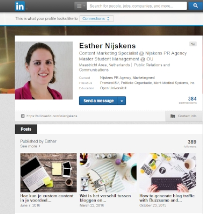 LinkedIn update versus article