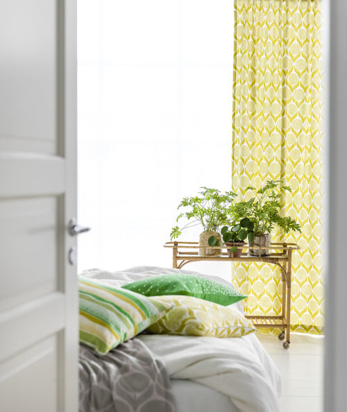 Scandinavian Curtains Blomma Lime Yellow