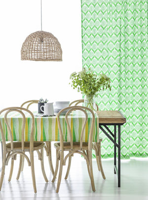 Scandinavian Curtains Blomma Green 01