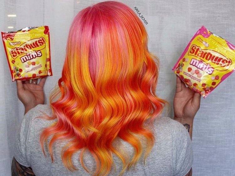 Starburst hair colour