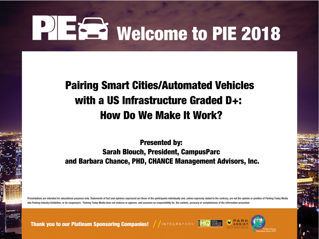 Parking Smart Cities / Automated Vehicles with a US Infrastructure