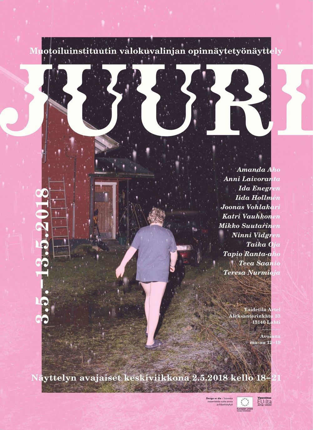 Juuri   Thesis Exhibition @ Taidetila Artel, Lahti 3.-14.5.2018  Opening: Wednesday 2.5. at 18:00  Facebook event:  Juuri