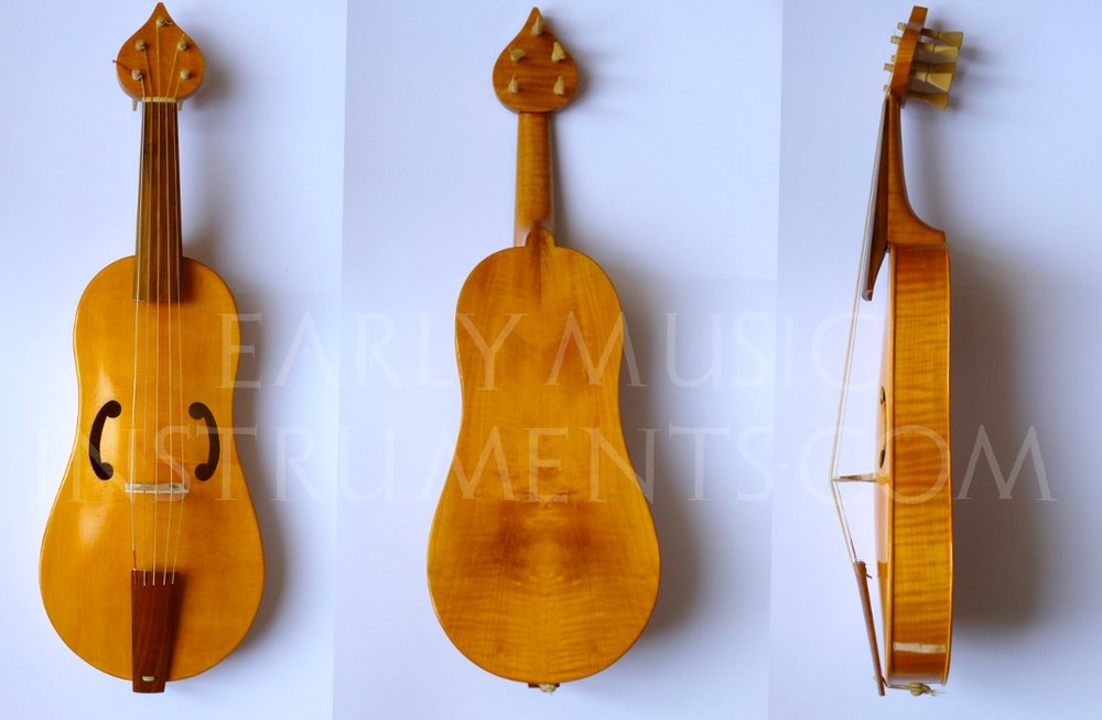 Viola da Braccio - da Vinci  37cm string length  Ribs, back, and neck in poplar, maple, or cherry   €1080