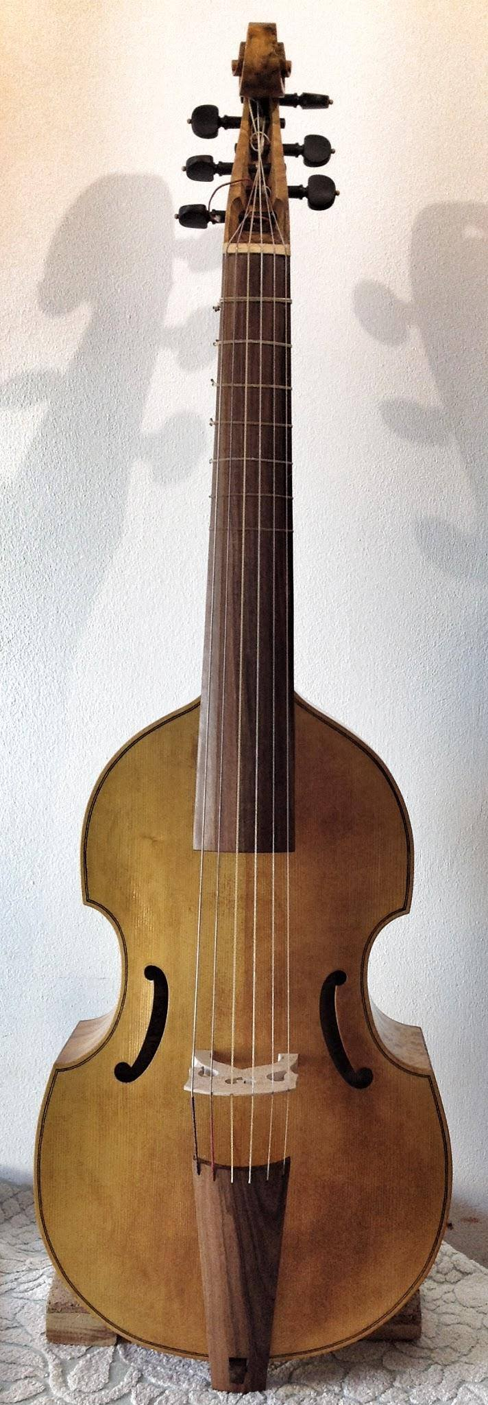 Henry Jaye Bass Viol  69 cm string length  €1900 plus strings - STUDENT MODEL