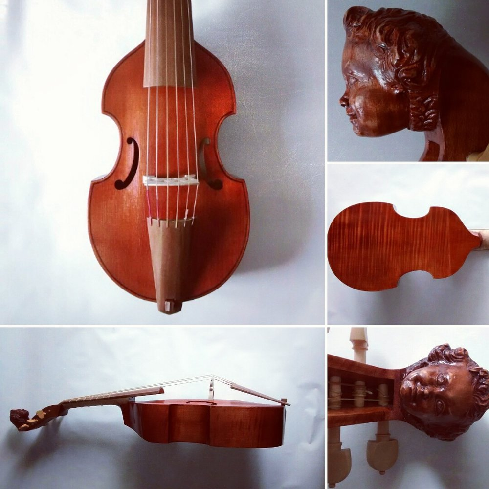 Nicolas Bertrand Treble Viol  38cm string length  €2350 plus strings