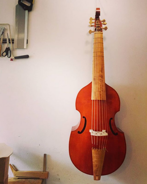 Nicolas Bertrand Bass Viol   69 cm string length   €1900 plus strings - 6-string STUDENT MODEL €2200 plus strings - 7-string STUDENT MODEL
