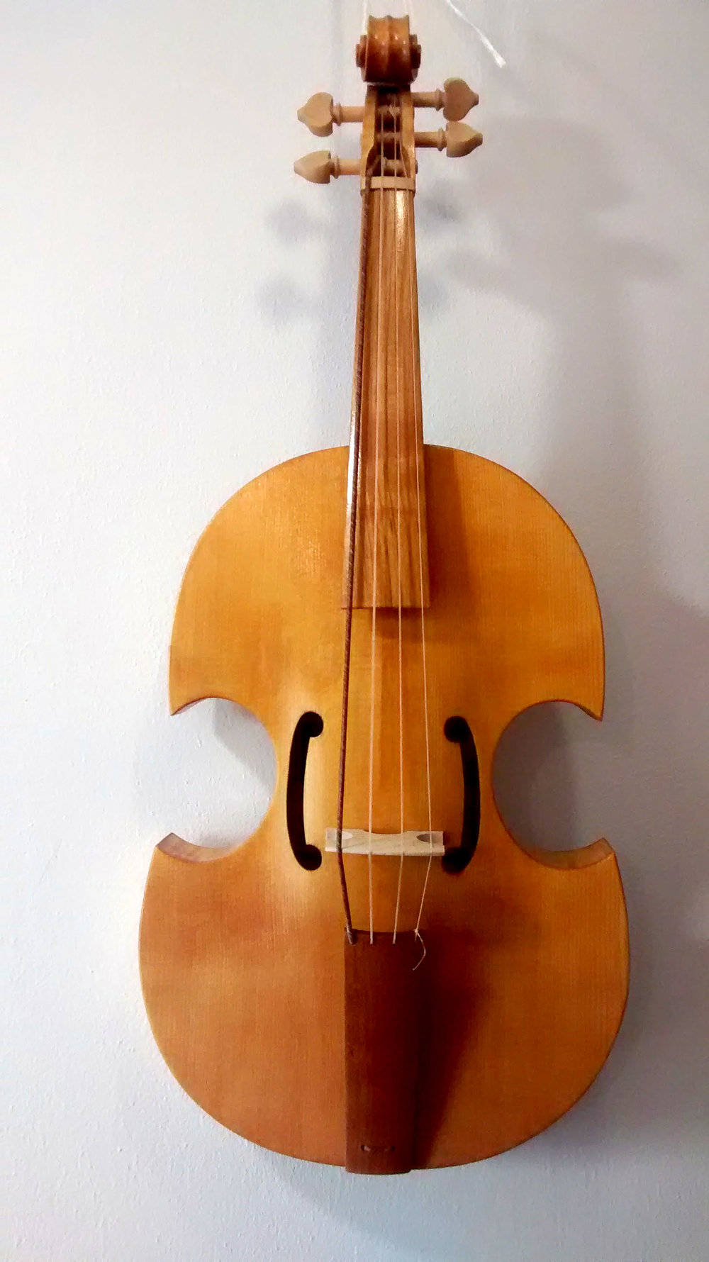 "Viola da Braccio ""Ferrara""  32.5 cm string length  Ribs, back, and neck in poplar, maple, or cherry   €1350"