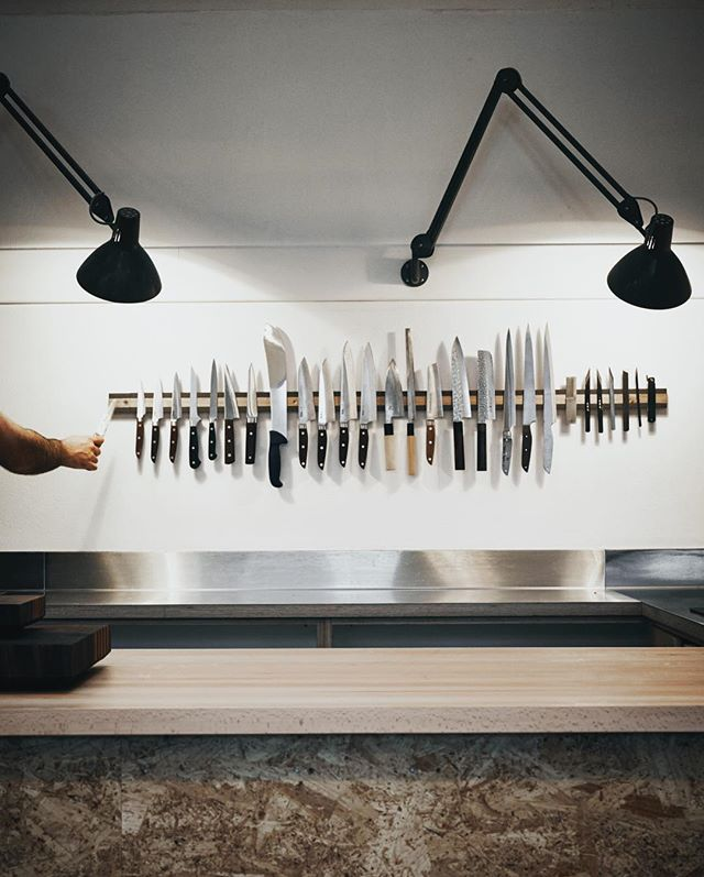 Knife Rack is the first thing to go up in our newly renovated studio (obvs).