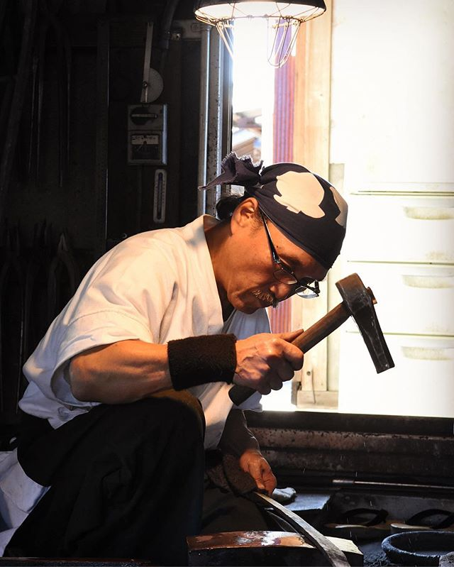 Mr Hiromune Takaba, the Samurai swordsmith who inspired the creation of TOG Knives. What a man.