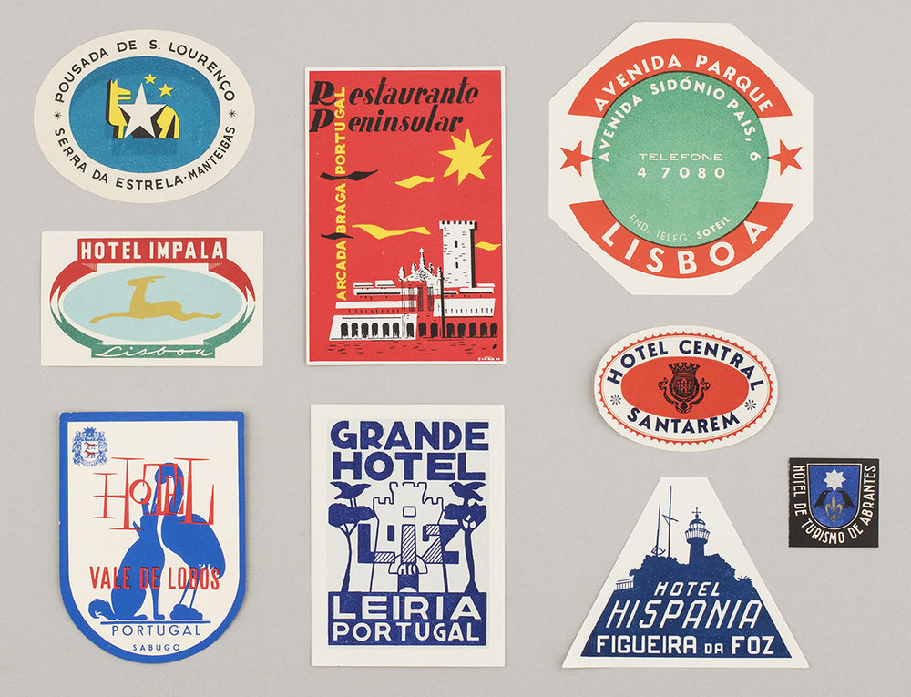 Portugese luggage labels, from Feira de Ladra flea market, Lisbon