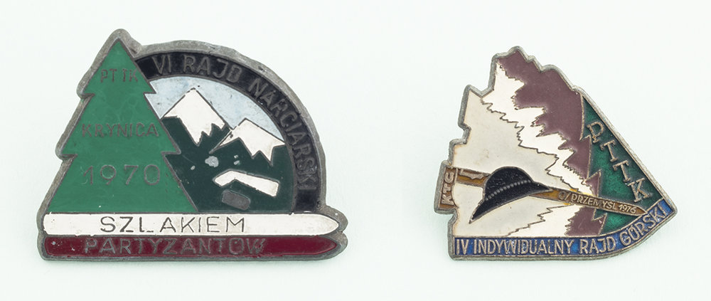Polish mountaineering badges, found in Kraków