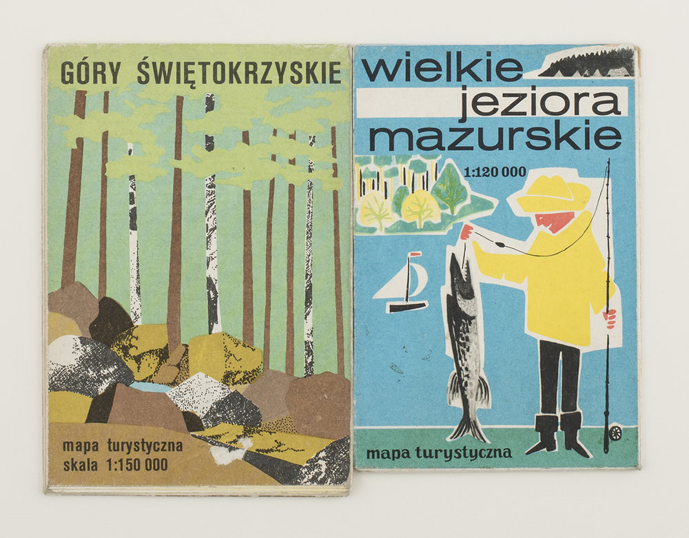 Polish walking maps, from Kraków flea market