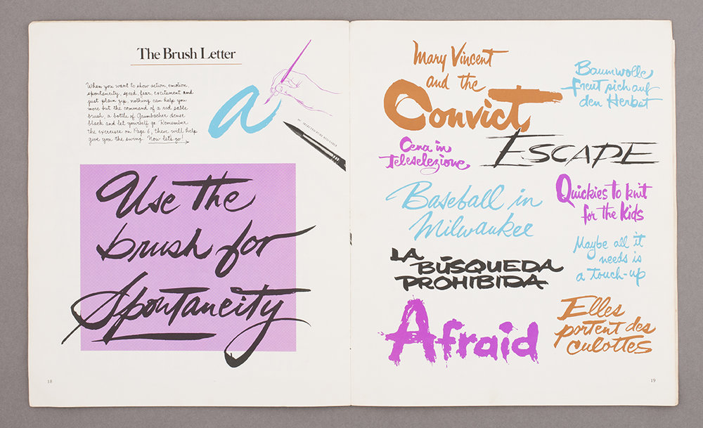 The Art of Lettering with Pen & Brush, 1973, from Deptford market