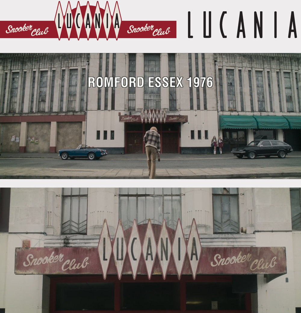 Signage design with custom typeface for Lucania Club