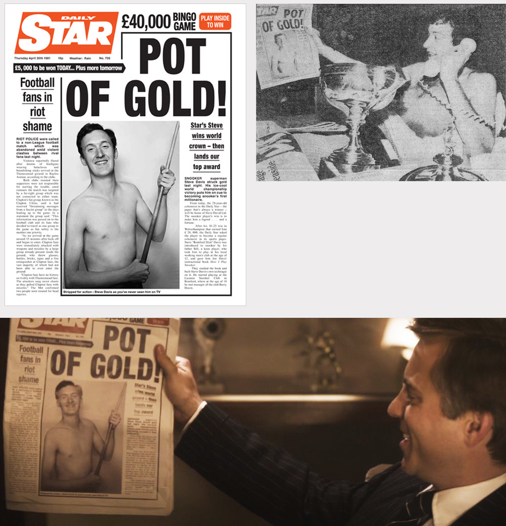 Re-creation of 1981 Daily Star cover from archive photo