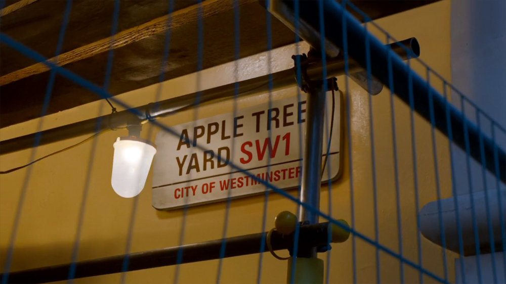 Re-creation of Westminster Council sign for Apple Tree Yard.
