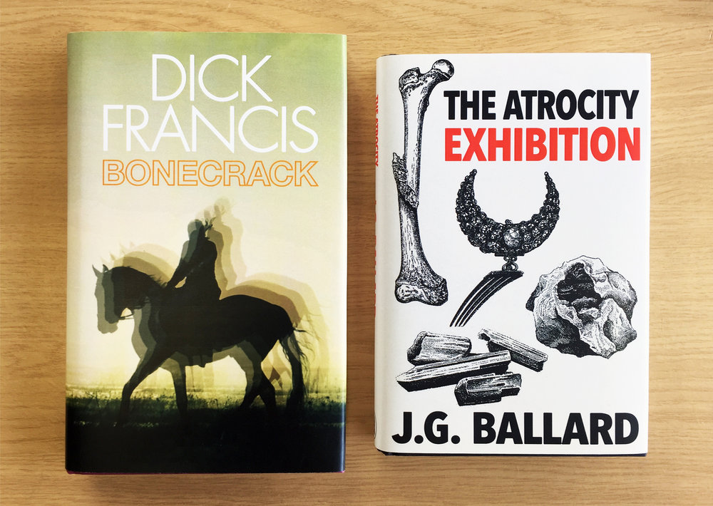 Two period covers for existing titles featured in a bookshop..