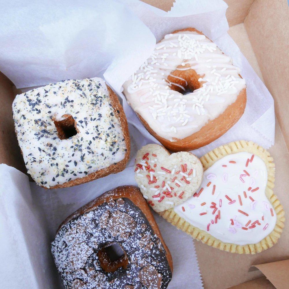 Cannoli Doughnut, Rice Pudding Doughnut, Pop-Tart, Everything Crossiant Doughnut, Almond Cookie