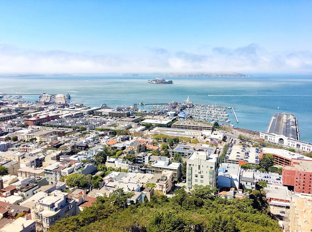 View from the top of Coit Tower