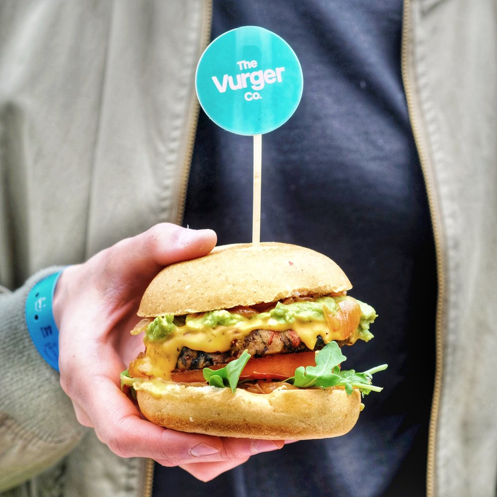 Vurger Co from London came to the festival and had a collaboration with Chef Chloe. This burger had a mushroom patty, caramelized onion jam, avocado, and truffle cheese!