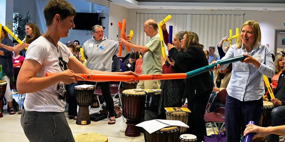 Participants in a Drumming & Disabilities Training Learn How To Use Percussion for Social Connection...