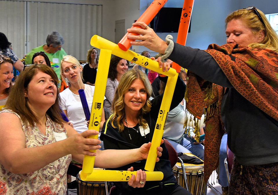 Drumming & Disabilities participants think outside the box and build connections through rhythm