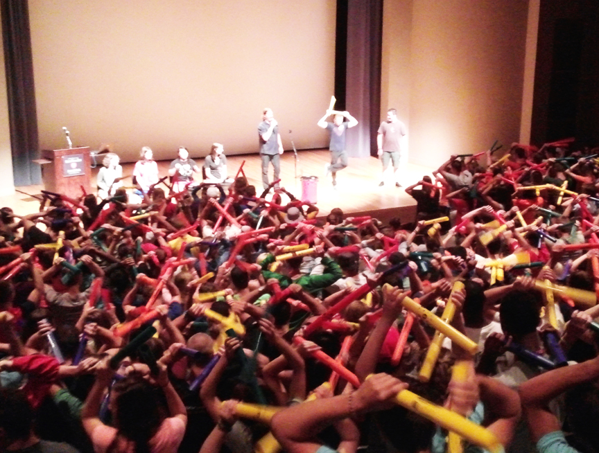 Rhythm Team Event with 500 College Freshman (and 1000 boomwhackers!)