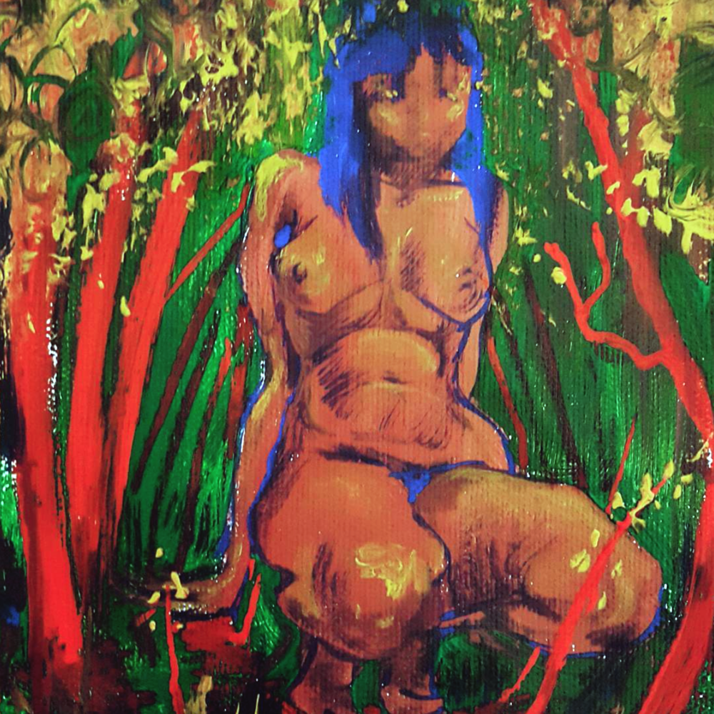 Page from a sketchbook, 2016  Acrylic